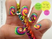 tie dye nail art