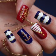 sailer nautical nails nail art