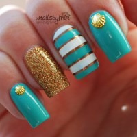 Summer Beach nails nail art by xNailsByMiri - Nailpolis ...