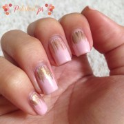 gold waterfalls nail art jenn