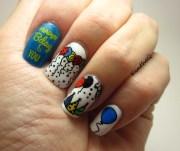 happy birthday nail art