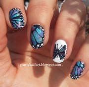 butterfly nails nail art margriet