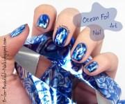 ocean foil nail art . - nailpolis