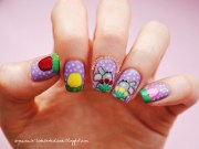 happy easter bunnies nail art