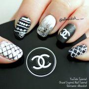 chanel inspired nails nail art