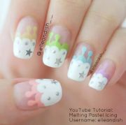 melting icing nails nail art