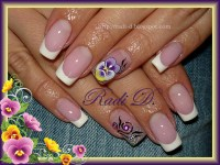 Photos - Bild - Galeria: NAIL ART FRENCH VIOLET