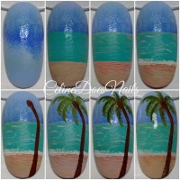 Beach Nail Art Tutorial nail art by Celine Pea ...