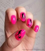 barbie nails nail art redhead
