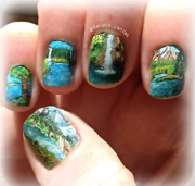 waterfall nail art amanda