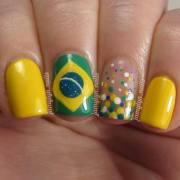 world cup 2014 brazil nail art
