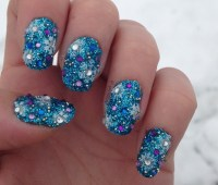 Sparkly Winter Wonderland nail art by Sparkly Nails by ...