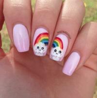 Rainbow Cupcake nail art by NailThatDesign - Nailpolis ...