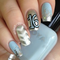 Sweet 16 Nails nail art by Erin