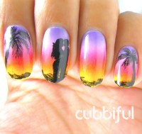 Romantic Sunset nail art by Cubbiful - Nailpolis: Museum ...