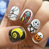 The Nightmare Before Christmas nail art by SydVicious ...