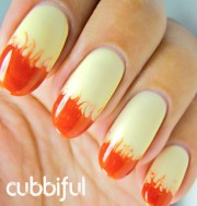 fall cloudy ombre nails nail art