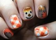 autumn scarecrow. nail art