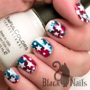 4th of july water marble with white