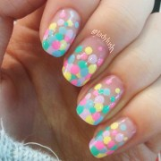 rainbow french tip dotticure nail