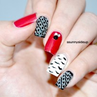 Hipster nails nail art by ssunnysideup (Sabrina ...