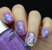 sailor moon nail art carmen