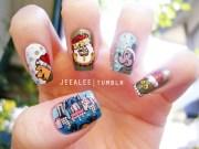 disney christmas nails nail art