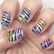 colorful zebra nail art jenny