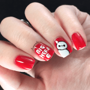 baymax big hero 6 nail art amey