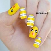chicken nails nail art ssunnysideup