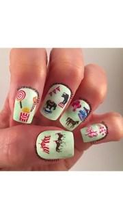 circus coming nail art