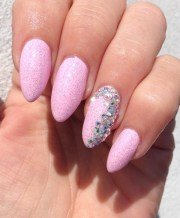 girly glitter bling nails nail