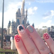 disney nails in front of castle