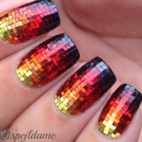Sparkly Fire nail art by Sparkly Nails by Spejldame ...