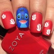stitch nail art christina