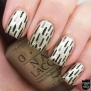 comet closer lines nail art