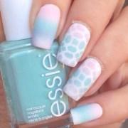 matte pastel gradient nail art