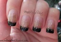 New Year's Eve Glitter Waterfall nail art by Make Nail Art ...