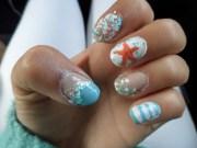 ocean nails nail art luzazul