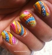 fabric print nail art nailfame