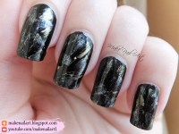 Black Gold And Silver Elegant Nail Art Design nail art by ...