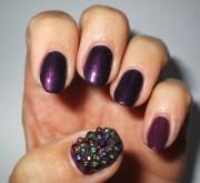 berry bordo nail art real