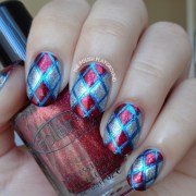 phone case pattern inspired nail
