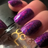Purple Holo Glitter nail art by Sazjay