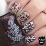 neutral fall foliage nail art