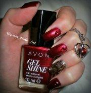 red garnet nail art elpiola