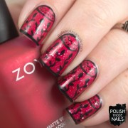 1920's flapper dress nail art