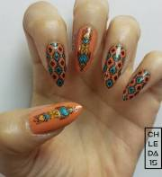 south-western summer nail art