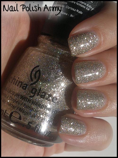 China Glaze I'm Not Lion 1080 80527, gold holo glitter