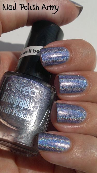 Perfect holographic H7 nail polish purple linear holo smalto olografico viola